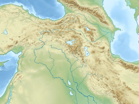 Black sea (top right), Caspian Sea (top left), Mediterranean Sea (left), Zagbos mountains, Plain of rivers Euphrates and Tigres, and Arabian peninsular. Region of ancient Assyrian and Babylonian empires. – Slide 9