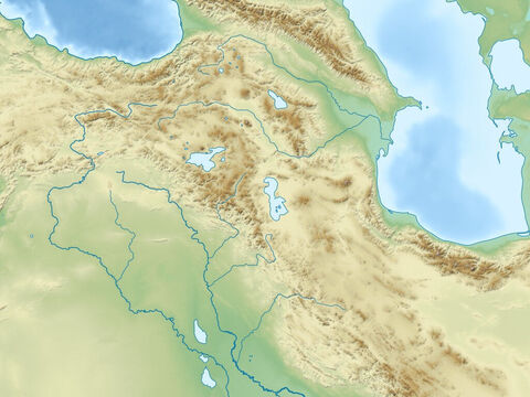 Black sea (top right), Caspian Sea (top left), Zagbos mountains, Plain of rivers Euphrates and Tigres, and Arabian peninsular. Region of ancient Assyrian and Babylonian empires. – Slide 10