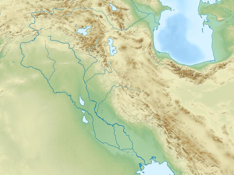 Caspian Sea (top left), Persian Gulf (bottom right) Zagbos mountains, Plain of rivers Euphrates and Tigres, and Arabian peninsular. Region of ancient Assyrian and Babylonian empires. – Slide 11
