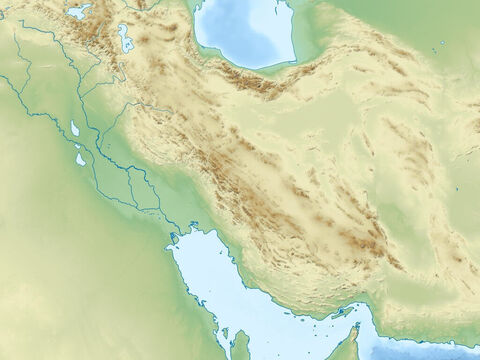 Caspian Sea (top), Persian Gulf (bottom right) Zagbos mountains, Plain of rivers Euphrates and Tigres, and Arabian peninsular. – Slide 12