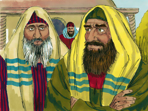 They had spies on the lookout for Jesus. They wanted to find a time when He was away from the crowds so they could arrest Him. – Slide 2