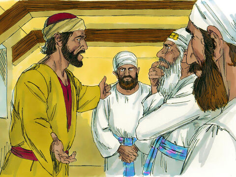 Judas left the house and headed off to find the Chief Priests. He had decided to betray Jesus. 'How much will you pay me to get Jesus into your hands?' he asked. – Slide 11
