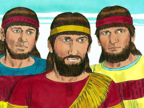 When the Babylonians invaded Israel they took many Jews as captives back to Babylon. King Nebuchadnezzar promoted three captives to be officials in Babylon and gave them new Babylonian names: Meshach, Shadrach and Abednego. – Slide 1