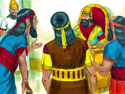 The Babylonian astrologers reported to Nebuchadnezzar that Shadrach, Meshach and Abednegohad not bowed before the image of gold nor did they worship his gods. – Slide 5