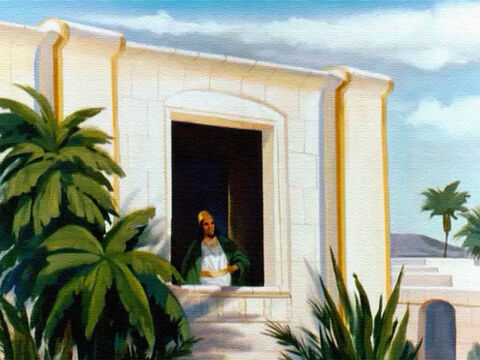 One day King Ahab, the ruler of Israel, was visiting his summer palace in Jezreel. As he looked out at his garden he admired all the beautiful things he possessed. – Slide 1