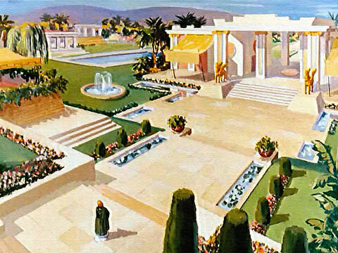 Where in the world was a garden as lovely as this? A garden to be treasured and it was his, all his! – Slide 2
