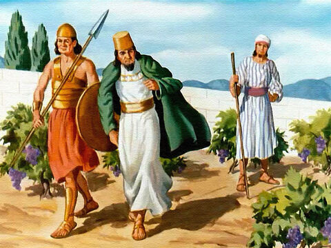 And that made Ahab very angry. How dared Naboth refuse him – the king! Especially when he was willing to pay any price for the vineyard! – Slide 11