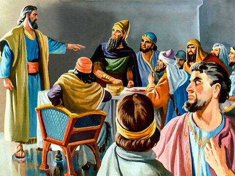 When Daniel was hastily brought to the king, he refused the great honour and wealth Belshazzar promised him if he could read the writing. – Slide 27