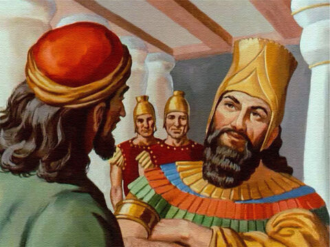 King Darius was flattered by such a request. It didn't even occur to the king that Daniel might have been left out of the planning, so he signed their decree and made it law. – Slide 16