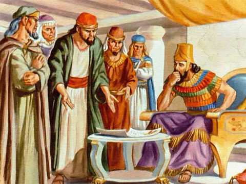 When the princes went to the king and demanded that Daniel be thrown to the lions, King Darius realised the cruel purpose of their law. This was no law to honour the king. It was an evil plot to get rid of Daniel. – Slide 22
