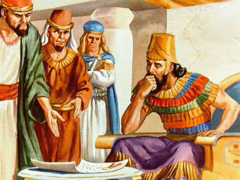 King Darius was very fond of Daniel. He considered Daniel a trustworthy friend and he greatly relied on the judgment of this wise man. But the king was trapped. – Slide 23