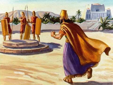 … and he ran to the place where the lions were kept and ordered the stone be taken away. – Slide 35