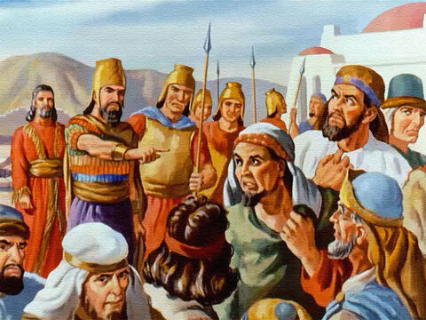 Then the king made a further command that the wicked princes – the men who had plotted against Daniel – be thrown to the lions in Daniel's place. – Slide 40