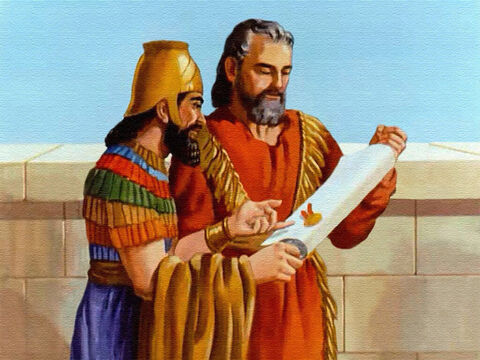 And then the king signed another law. This law said that all men were to tremble and fear God. The God of Daniel was the living God, and lives forever. – Slide 41