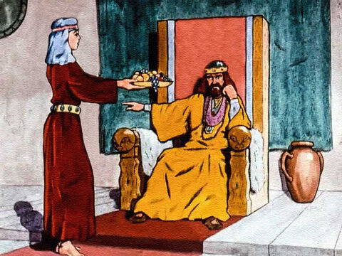 King Saul, the ruler of the land of Israel, had turned his back on God and become tormented and very sad. King Saul didn't want to eat, or sleep. His servants failed to please him. – Slide 2