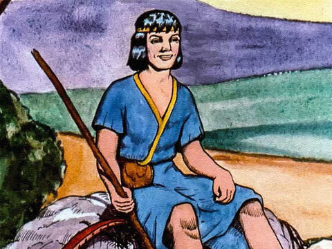 Someone suggested David, the son of Jesse, who could play beautiful music on his harp. – Slide 4