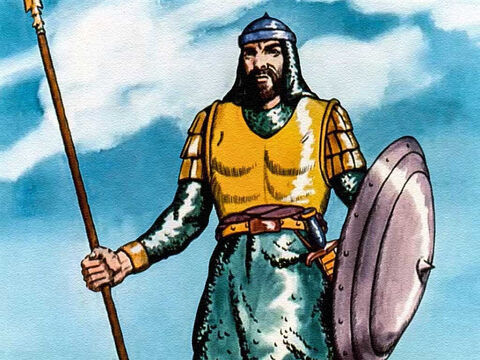 ... how the giant from the Philistine army dared anyone from the land of Israel to come out and fight with him? – Slide 9