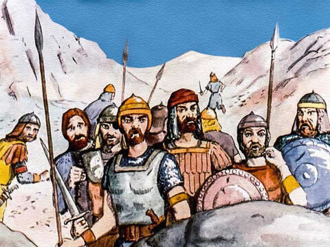 The Philistines had been very confident of their victory over the Israelite nation, but now their champion was dead, they no longer wanted to fight. – Slide 14