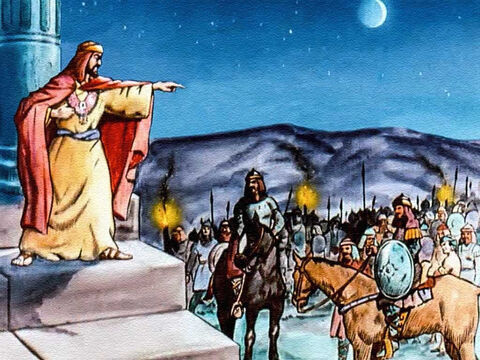 But King Saul had made up his mind that David would have to be slain, and preparations were soon being made to track the shepherd boy down. – Slide 25