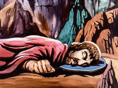 ... the very cave in which David and his men were hiding. The king walked right into their hiding place! – Slide 32
