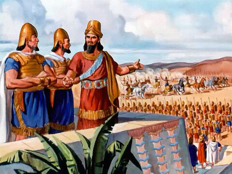 With his mighty, well equipped army ready to fight he was sure that this time they could wipe out Israel's army. – Slide 5