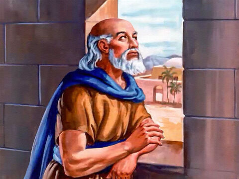 While the Syrians secretly plotted, Elisha stood quietly by the window of his house. Then he called his servant, and said to him: – Slide 8