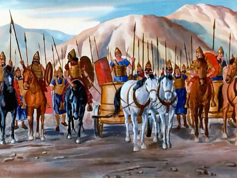 It was the enemy, the Syrian army! Could it be that this time Elisha hadn't known they were coming?' – Slide 22
