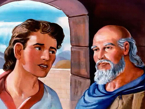 Then Elisha said, 'They have just human power, but we have the Lord our God.' Then Elisha prayed that God would open his servant's eyes.  'Go and look out of the window again.' The young man looked ... – Slide 26