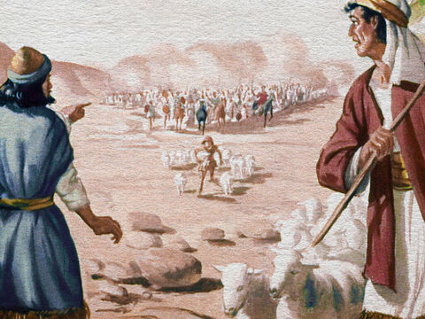 The Bible tells us of a time when the Midianites, a wicked and warlike people, came like a plague of grasshoppers and swarmed over the land of Israel. – Slide 1