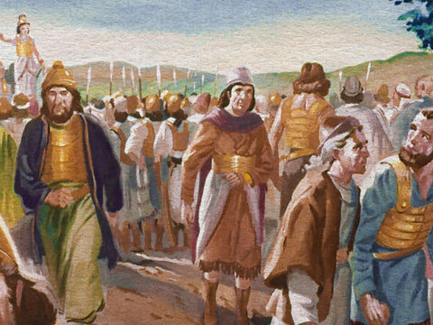 When Gideon gave his men a choice of whether or not to fight, many of the men left the camp. Even though they knew God had promised victory to their leader, they also knew the Midianites outnumbered them four to one. – Slide 13