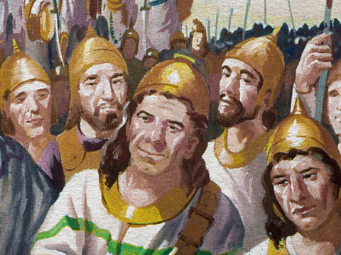 Gideon's new army was much smaller than before, yet it was stronger. These men were not afraid to fight. But would courage make up for lack of numbers? – Slide 14
