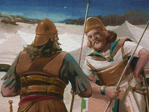 As far as the Midianite guards were concerned, there was nothing surrounding their camp but the emptiness of the night. – Slide 23