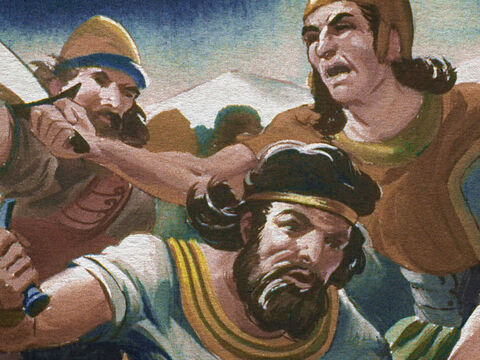 Then a strange thing happened in the army of the Midianites. – Slide 35