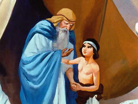 Joseph was next to the youngest. Of course Jacob loved all his children but something about this younger son touched his father's heart in a special way. – Slide 2