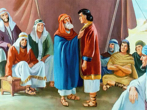 When Joseph was 17 years old, his father gave him a beautiful coat. It was a mark of honour, to show that Jacob was pleased with his younger son. – Slide 11