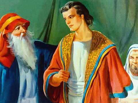 Wearing this coat set Joseph in a place above his brothers. And Joseph deserved the honour because he had served his father better than the others. – Slide 12