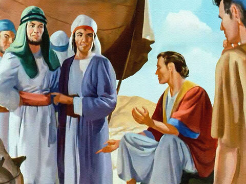 They jeered at Joseph and tried to make it seem he was lying, pretending to have a dream like that just to make himself big and important! – Slide 14