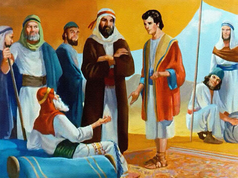 Then Joseph told his family about a second dream he'd had. This time the sun and moon and eleven stars seemed to come and bow down to him. Now even Jacob rebuked his beloved son. – Slide 15