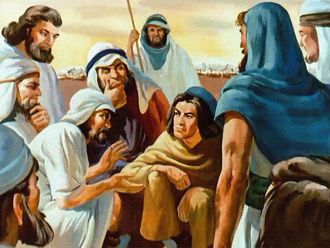 But not the brothers! Dreams or no dreams, they weren't going to have Joseph telling them what to do. And so in their hearts an evil purpose began to grow. – Slide 18