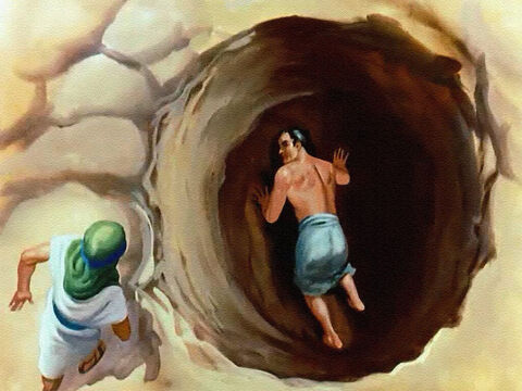 It might mean slow death for Joseph, from starvation and exposure, but actually Reuben intended to come back later and help him escape. Then, before Reuben had a chance to do anything about it ... – Slide 25