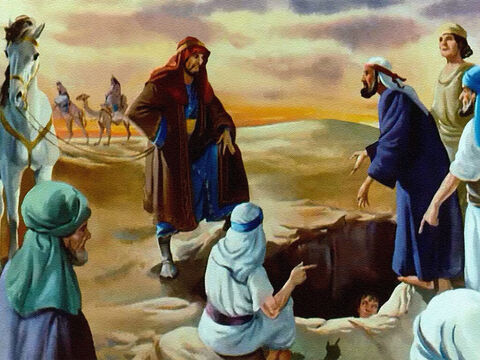 ... a caravan of traders came along on their way to Egypt. The brothers decided that here was an even better way to get rid of Joseph! – Slide 26