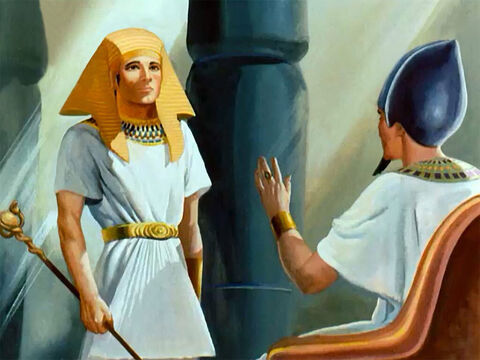 ... Joseph was made a great prince of Egypt as a result of his interpreting one of the Pharaoh's dreams. And because of Joseph's God-given wisdom and ability he was made ruler over all the land of Egypt, second only to the king himself. – Slide 32