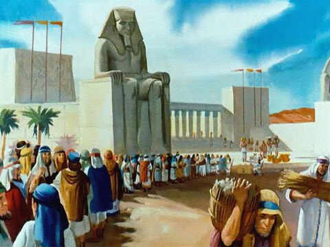 But there was food stored up in Egypt. And when Jacob's sons heard about it, they came all the long way from Canaan and waited in line to ask for help. – Slide 35