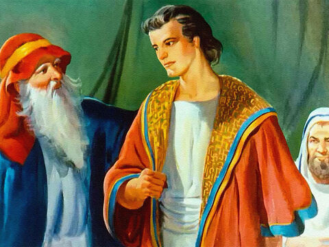 As a young man, God had blessed Joseph's obedience and made him a favourite son. – Slide 39