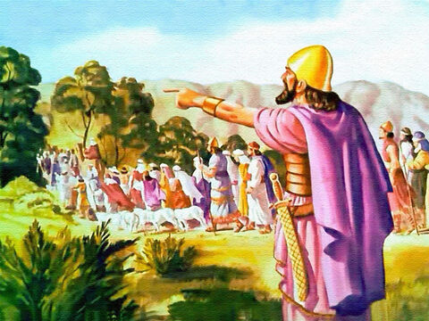 When the people of Israel entered the land of Canaan, Joshua was their leader, a man chosen by God who had commanded ... 'Look, I have set the land before you: Go in and possess it.' – Slide 1
