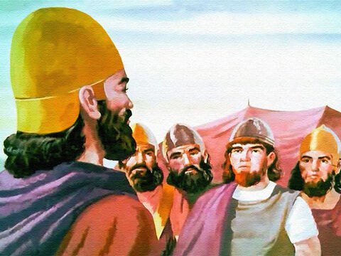 The Lord said the walls of Jericho would fall down flat! And every man would go into straight into the city! So the men of Israel prepared to obey. – Slide 16