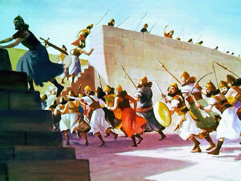 To the walls! To the walls!' they shouted, as every man hurried to his place. – Slide 18