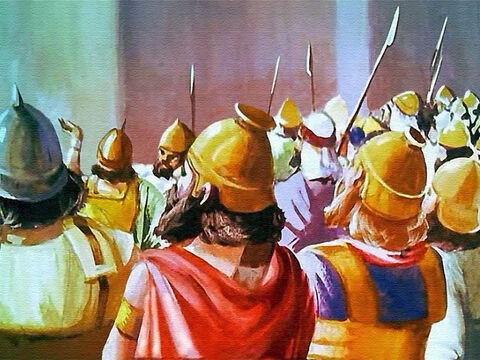 And suddenly the trumpets stopped! Every man waited for the Lord's appointed signal! – Slide 36