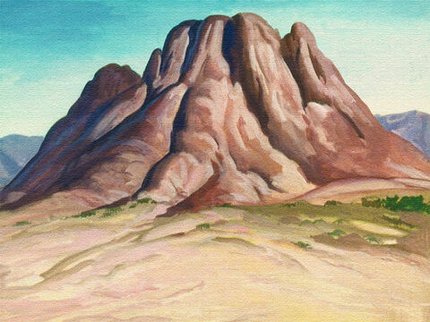 The mountain of Sinai will always be remembered by the people of Israel for a very important reason. It was here they heard the mighty voice of God speaking the Ten Commandments. – Slide 1