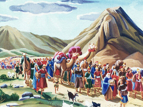 The nation of Israel had been chosen by God to be His people acting as His messenger to the world. Under their great leader Moses, God was taking them from Egypt to the beautiful land of Canaan. – Slide 2